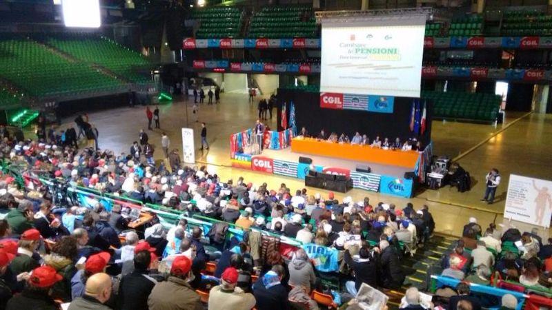 Manifestazione interregionale unitaria sulle pensioni