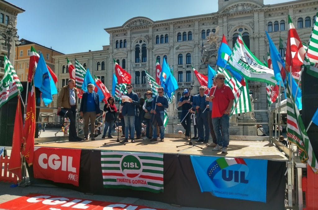 EUROPA, DIRITTI E TUTELA DEL LAVORO, GRANDE PARTECIPAZIONE DELLA UIL AL PRIMO MAGGIO IN FVG